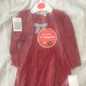 Magnetic Me red dress gray legging set 12 months